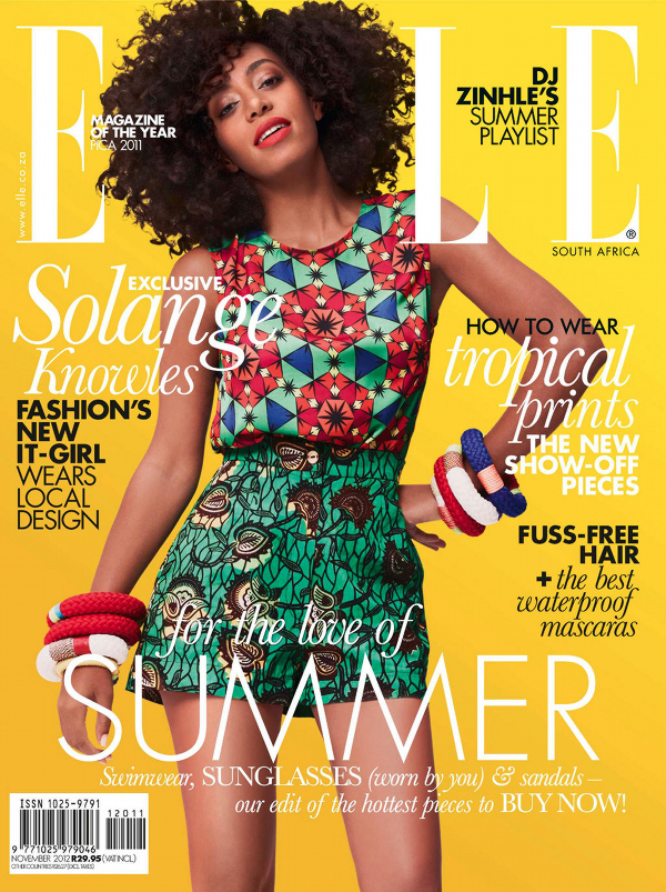 Solange Graces Covers South Africa November 2012