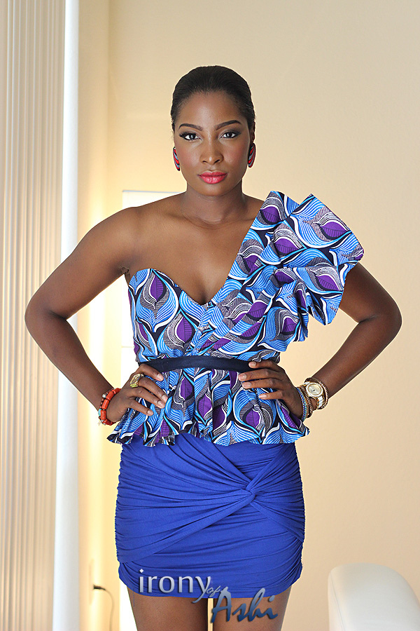 Ankara Street Style of The Day-Irony of Ashi in Custom Oyato Peplum Top 3