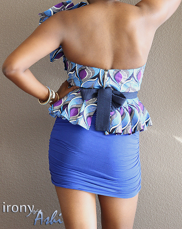 Ankara Street Style of The Day-Irony of Ashi in Custom Oyato Peplum Top 4