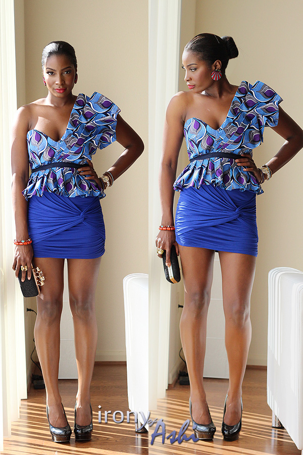 Ankara Street Style of The Day-Irony of Ashi in Custom Oyato Peplum Top 5