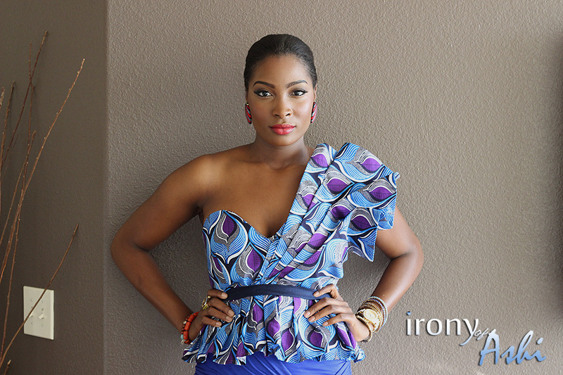 Ankara Street Style of The Day-Irony of Ashi in Custom Oyato Peplum Top 6