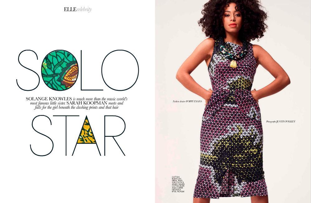 Solange Graces Cover of Elle Magazine Africa November 2012 2