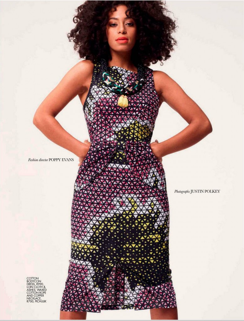 Solange Graces Cover of Elle Magazine Africa November 2012 3