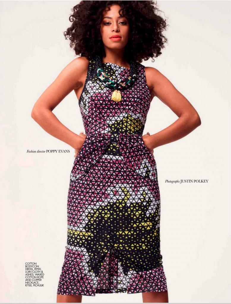 Solange Graces Cover of Elle Magazine Africa November 2012 3