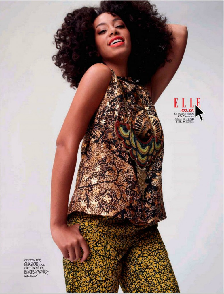Solange Graces Cover of Elle Magazine Africa November 2012 6