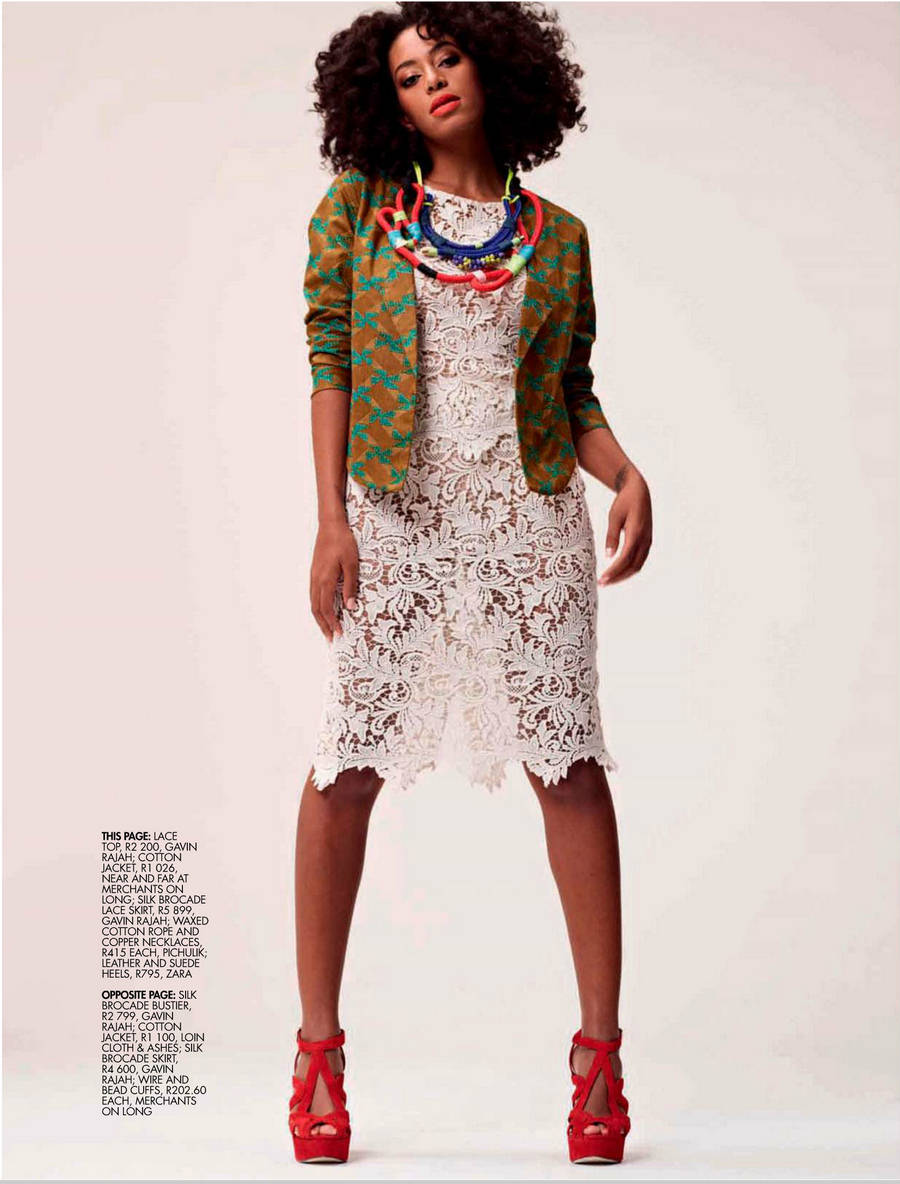 Magazine Solange For Elle South Africa Magazine November 2012