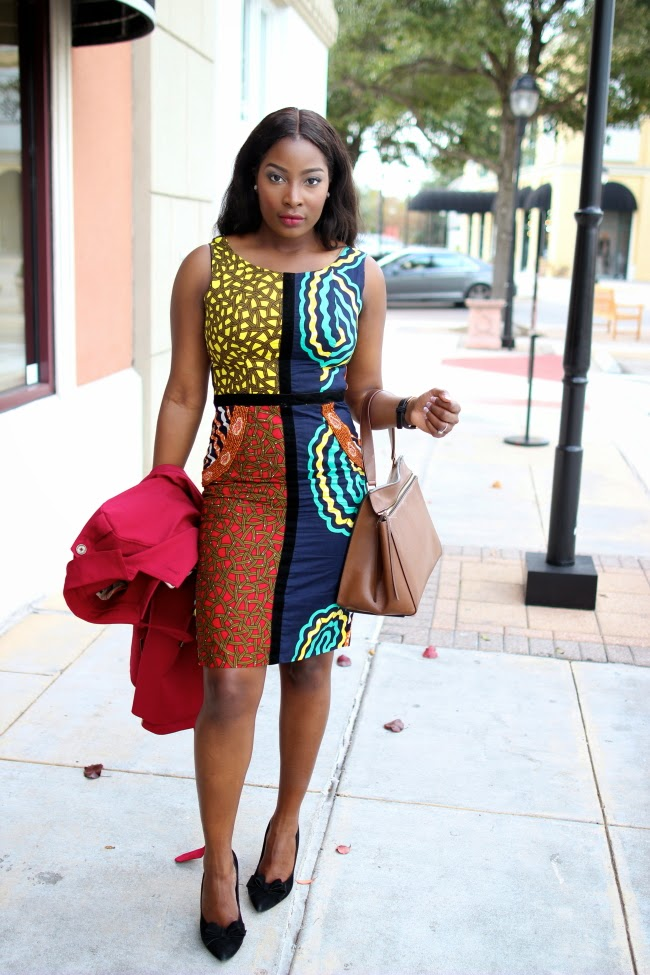 Ankara Street Style of The Day-Irony of Ashi's Design for Love's Oyin Pencil Dress 2