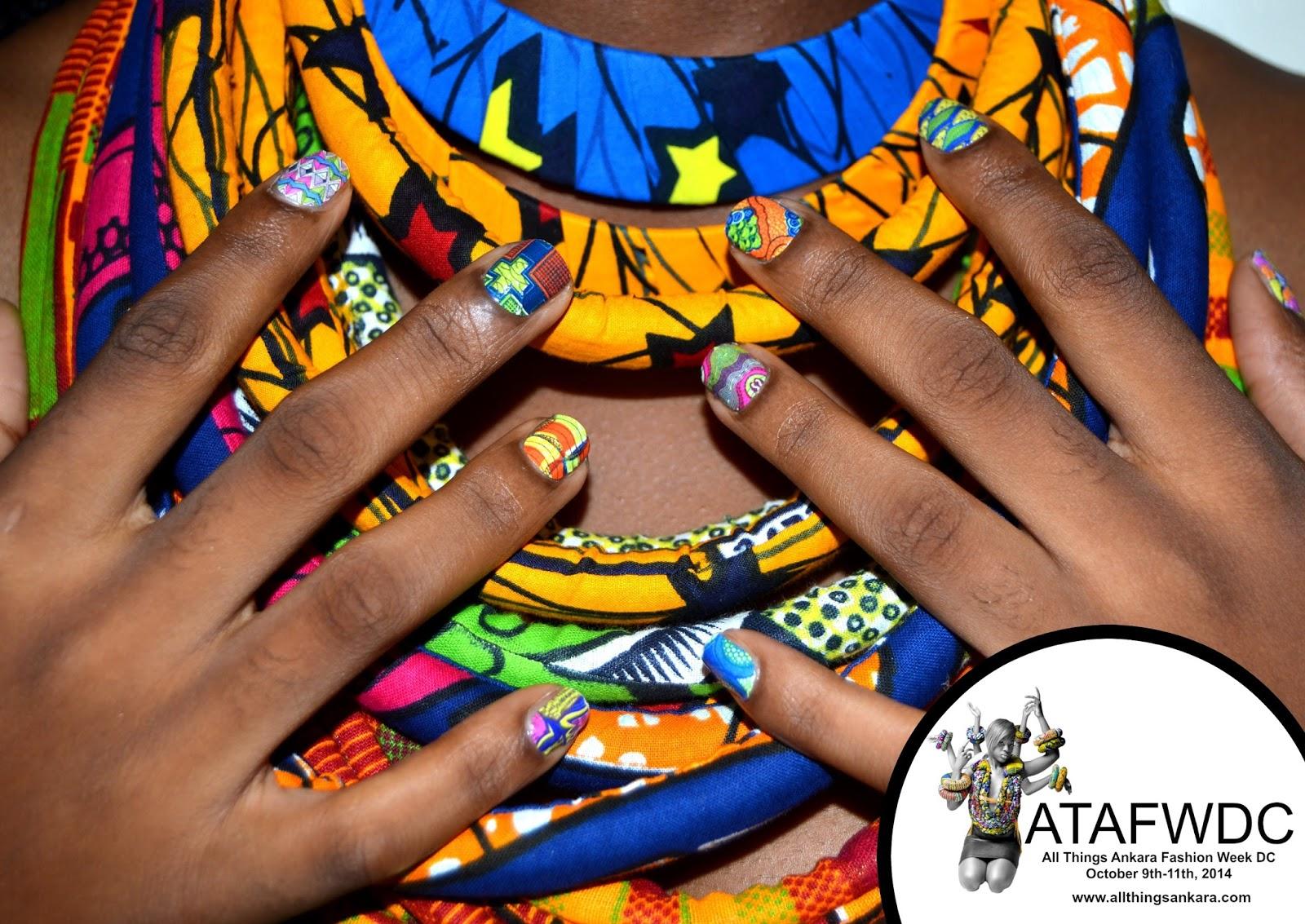 Nails Ankara Print Fabric Nails