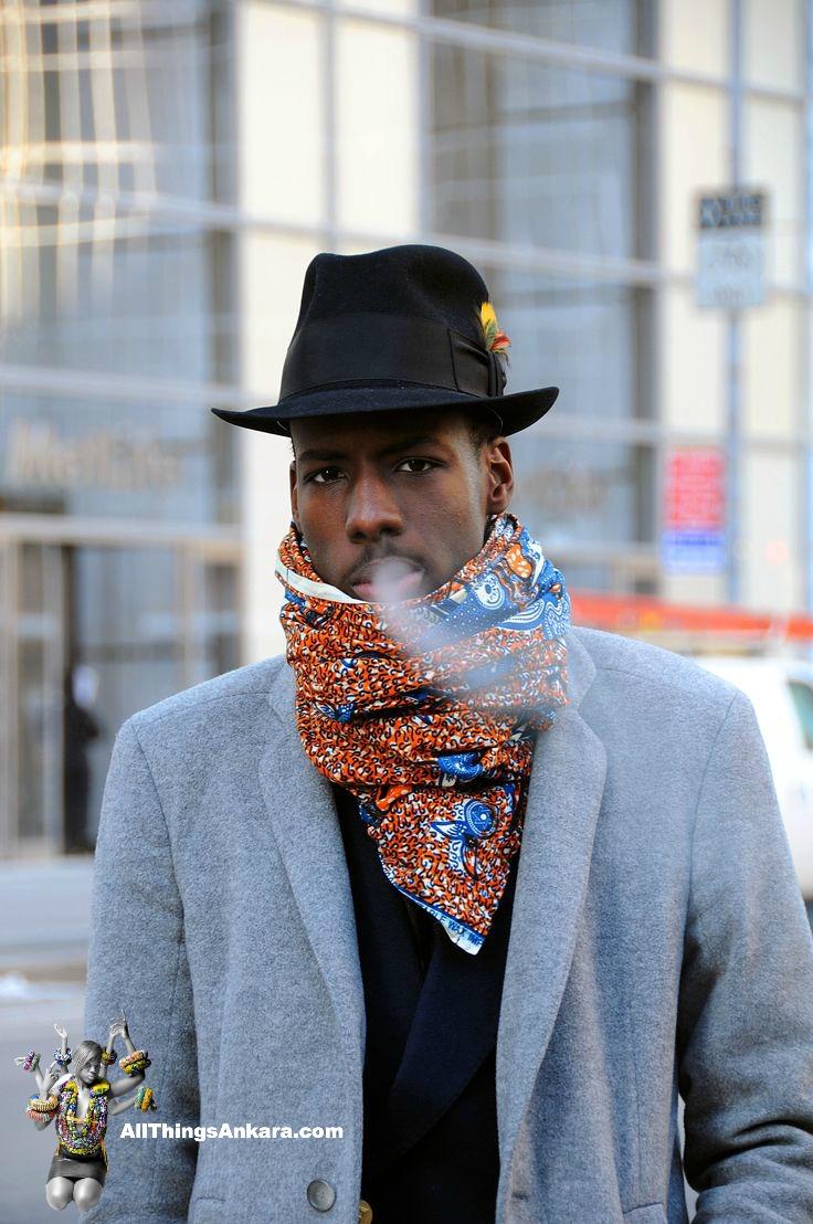 What To Wear Men S Winter Accessories Ankara Scarf Muffler Style