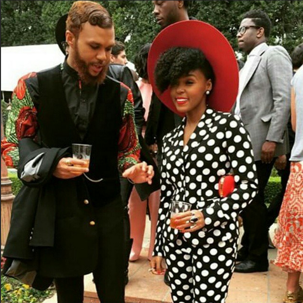 Jidenna and Jánelle Monae at Rock Nation's 2015 Pre-Grammy Brunch 1