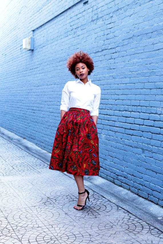 Melange Mode Midi Skirt 1