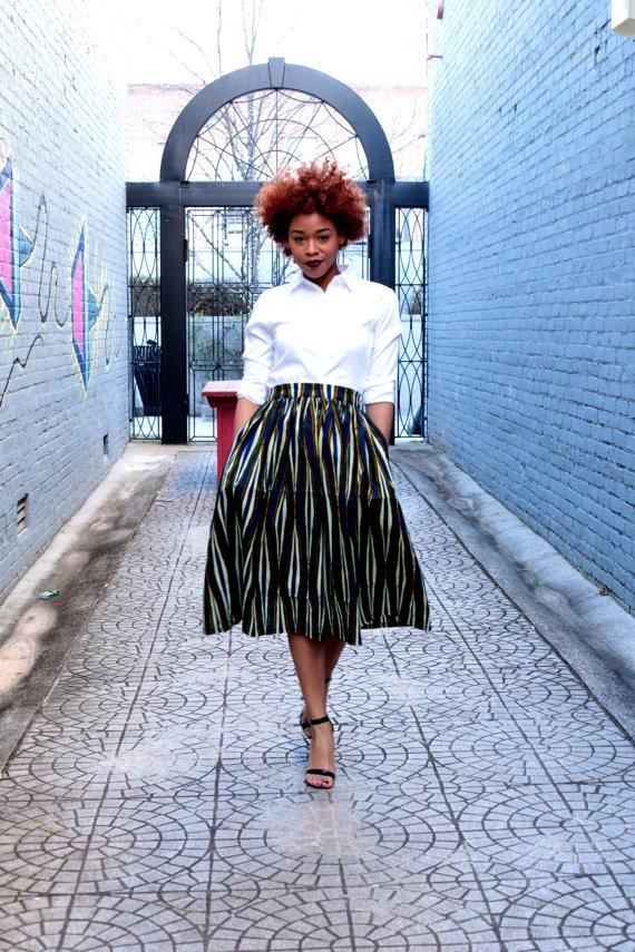 Melange Mode Midi Skirt 2