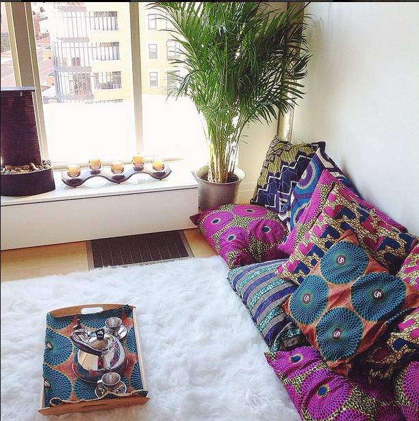 Ngozi Okpara of Heat Free Hair Living Room Decor by Asiyami Gold