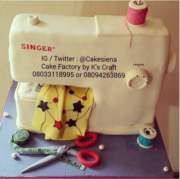 Pastry-Ankara Print Inspired Cake by Cake Factory by K's Craft
