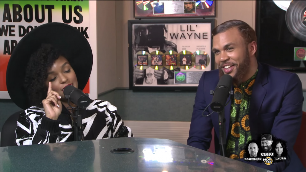 Interview-Janelle Monae introduces Jidenna to Ebro in the Morning 1