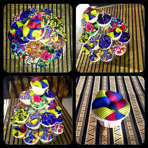 Olori V's Ankara Print Birthday Cupcakes 2