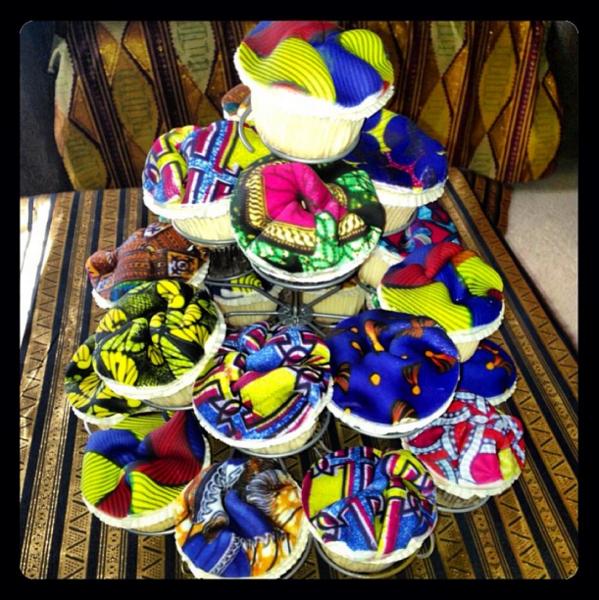 Olori V's Ankara Print Birthday Cupcakes 3