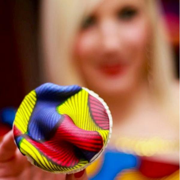 Olori V's Ankara Print Birthday Cupcakes 5