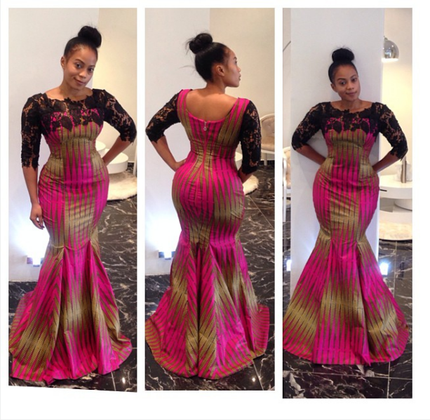 Style Temple's Ankara Print Lace Gown