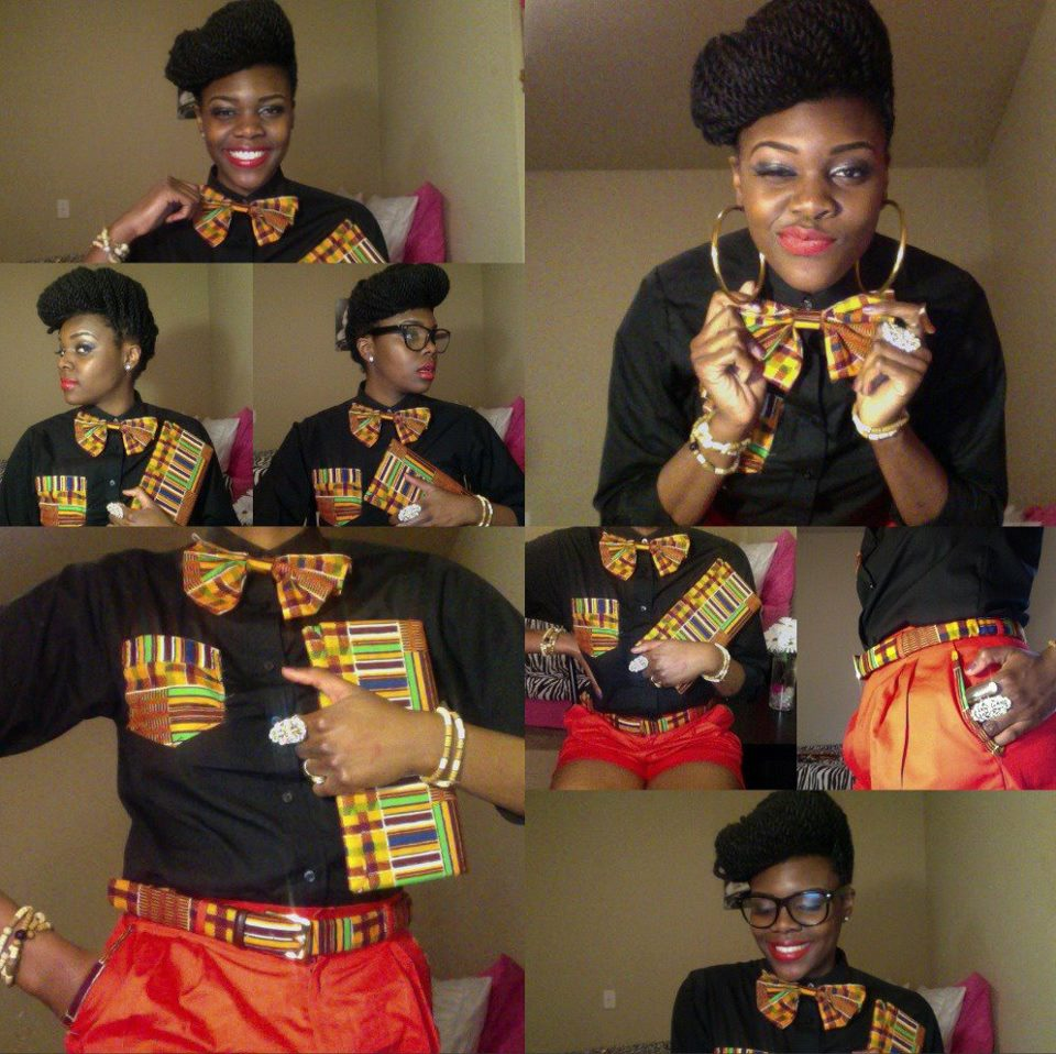 Nikki Billie Jean: My Kente Print Janelle Monae Inspired Outfit to PSU Touch of Africa 2012