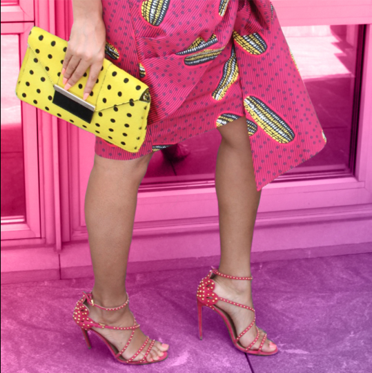 Beyoncé Spotted in Stella Jean Dugongo Printed Cotton Skirt 2