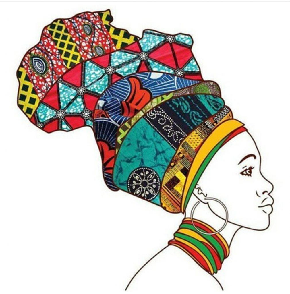 Mixed Ankara Print Headwrap Illustration