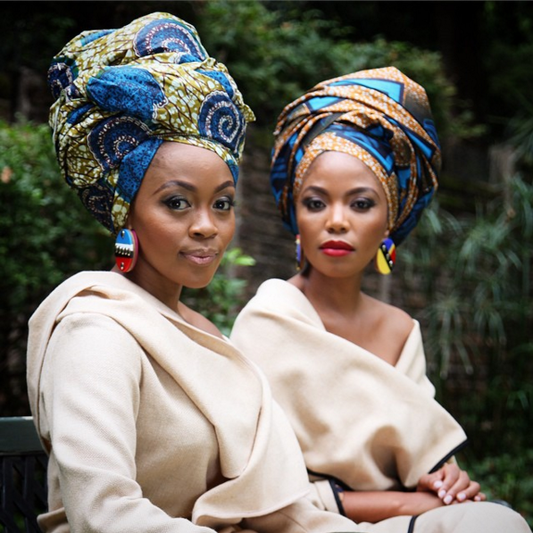 Editorial: Thembi Seete and Terry Pheto by Trevor Stuurman - African Wedding Hairstyles