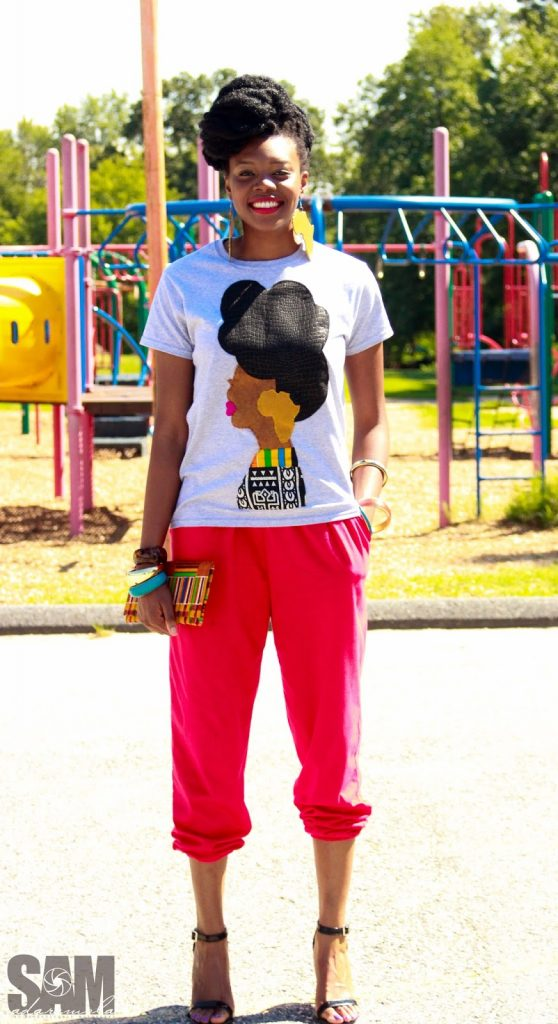 Quelly Rues's %22Naturally Me%22 Tee for the Naturalista Hair Show 2013 3