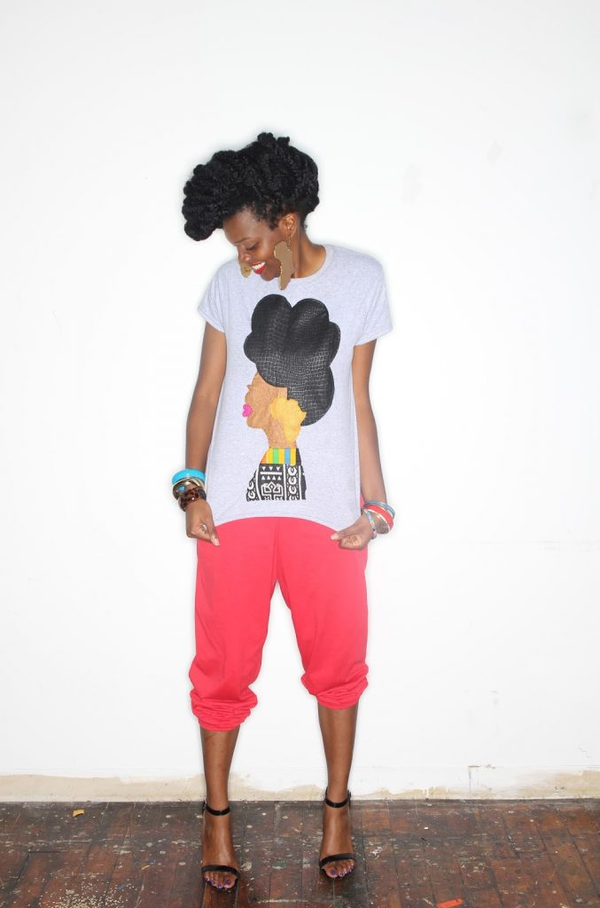 Quelly Rues's %22Naturally Me%22 Tee for the Naturalista Hair Show 2013 7