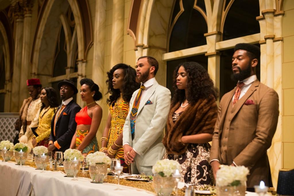 All Things Ankara Ball 2015 High Table Khris I. Ohwawa, Nana Kwabena, Madam Kateri, Jessica Chibueze, Jidenna, Whippa Wiley, & Fluent stand up for Nigeria's National Anthem by OWO