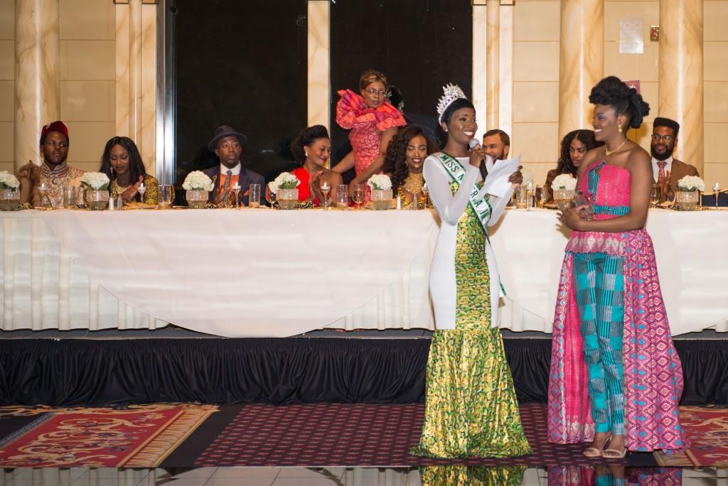 Michelle Nwosu Miss NIgeria in America and Nikki Billie Jean Founder of All Things Ankara Nigerian Renaissance Award Presenters