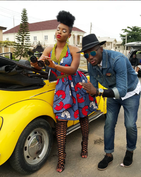 Yemi Alade's Ankara Print Dress in DJ Spinall's Pepe Dem Music Video