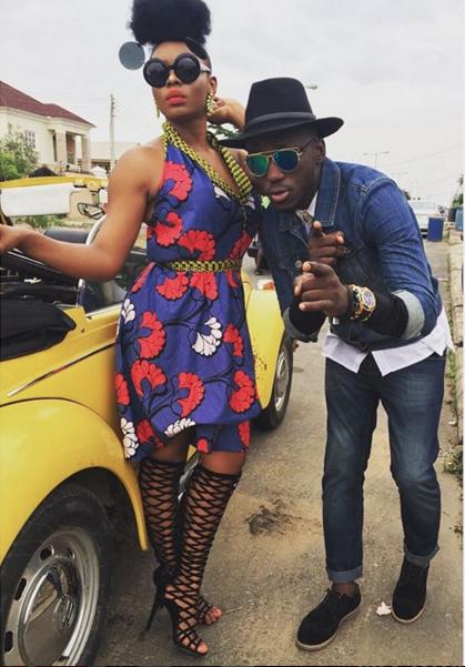 Yemi Alade's Ankara Print Dress in DJ Spinall's Pepe Dem Music Video 2
