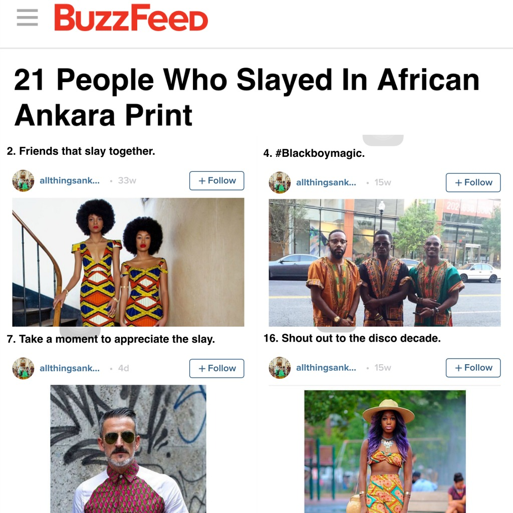 All Things Ankara Featured on BuzzFeed's 21 People Who Slayed in African Ankara Print