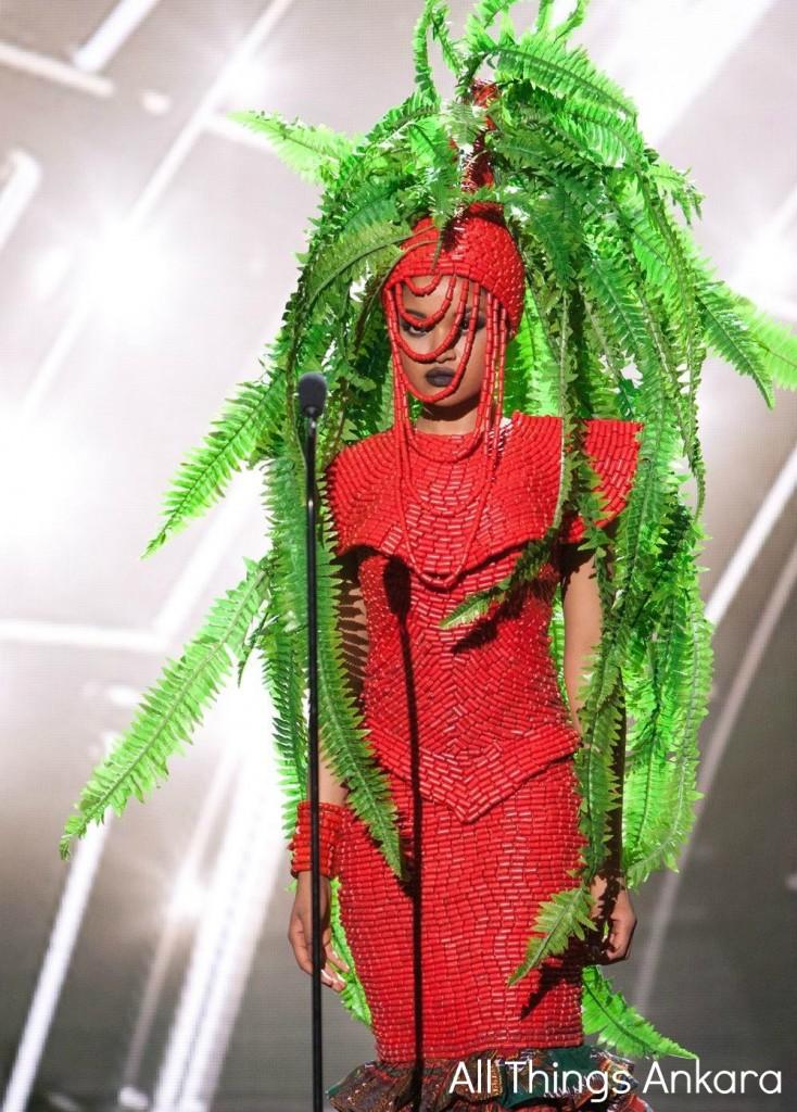 Debbie Collins Miss Nigeria Universe 2015 National Costume 1