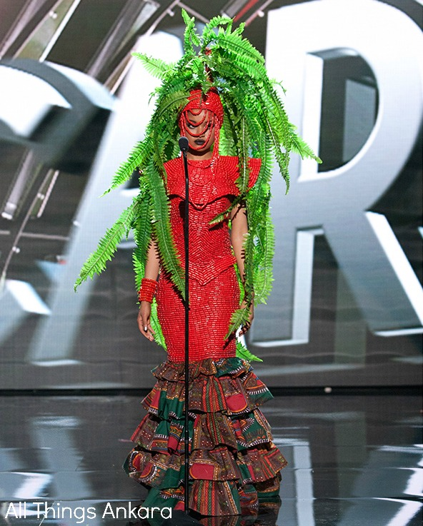 Debbie Collins Miss Nigeria Universe 2015 National Costume 2