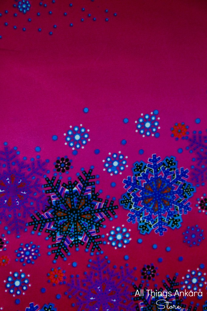 Pink Blue Purple Snow Flakes Wax Prints by Swagger