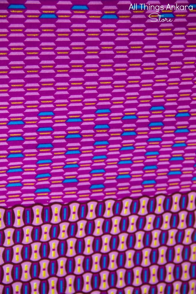 Royal Blue Purple Gold Block Stacks Glitter Shining Sand Wax Prints by Fatix Sunshine Wax