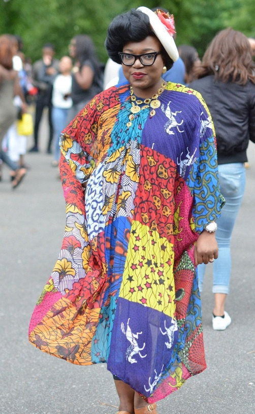 Ankara Product of The Day Tote London's Ankara Print Pleated Chiffon Kaftan Dress