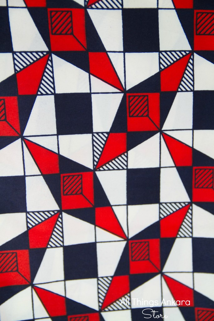 Black White Red Diamond Boxes Wax Prints by Swagger