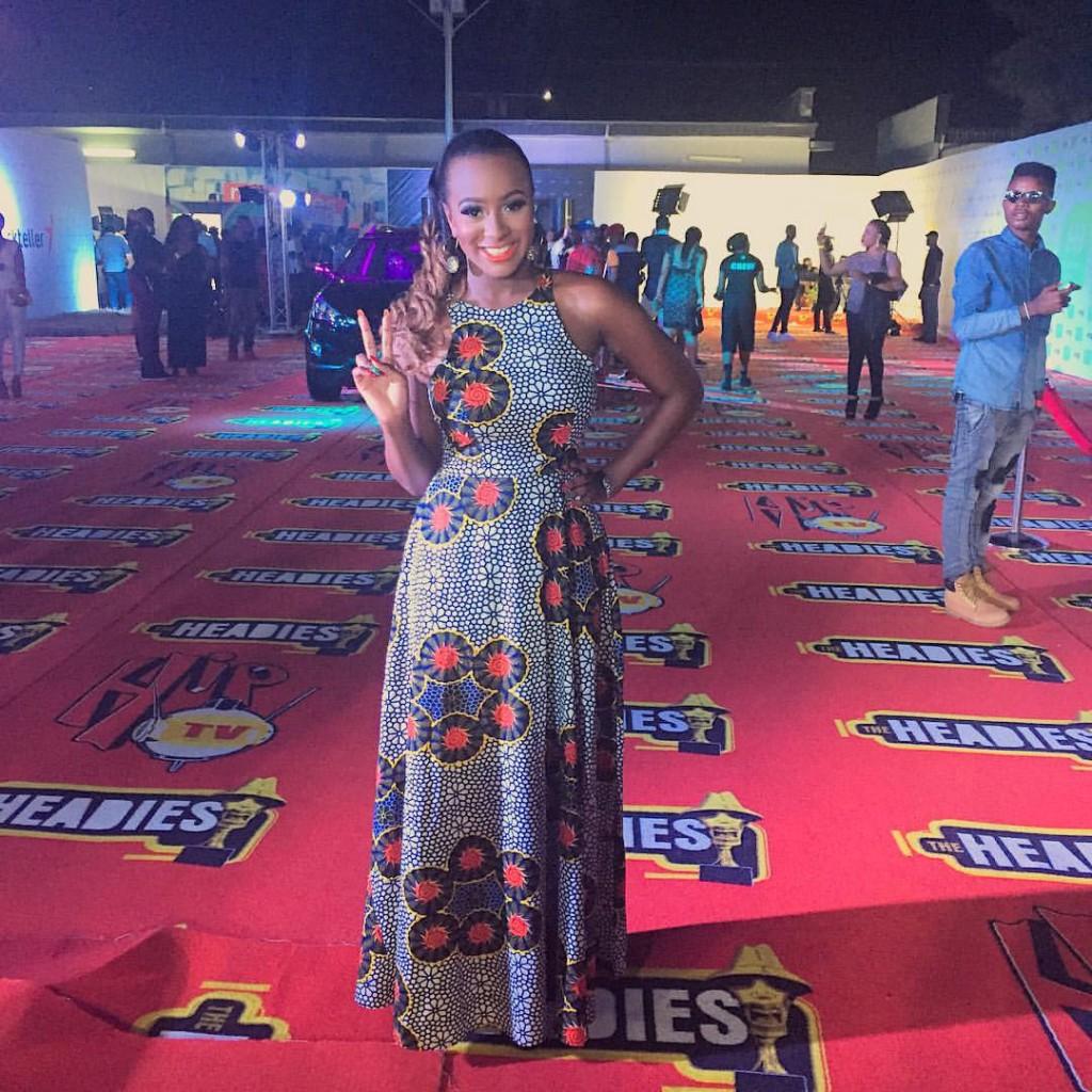 Celebrities DJ Cuppy at The Headies 2015 in Iconola Dress.jpg