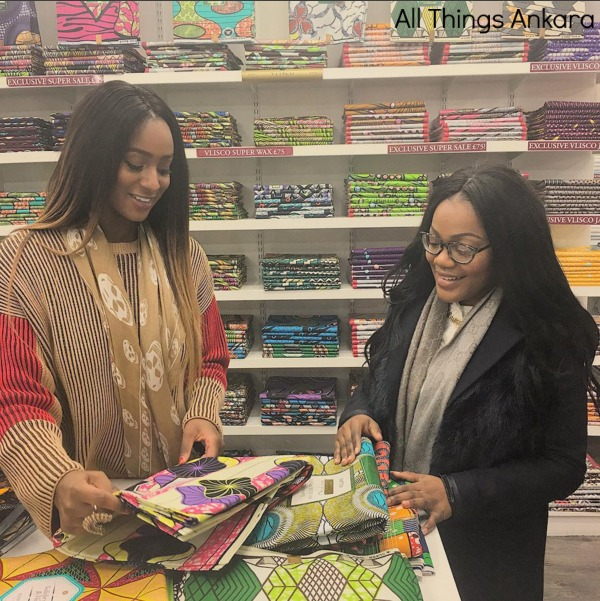 Celebrity DJ Cuppy Fabric Shopping for BRITS 2016 Outfit
