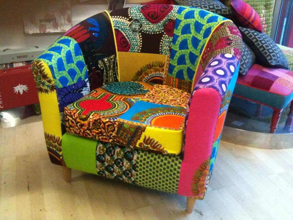 Home Interior Afrotechnicolour Therapy Ankara Print Chairs by Ray Clarke 3