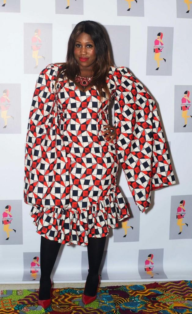 Nene Michelle Bundu of A4dable Events wears All Things Ankara Store Fabric to Bernan Fashion Show 2016 1