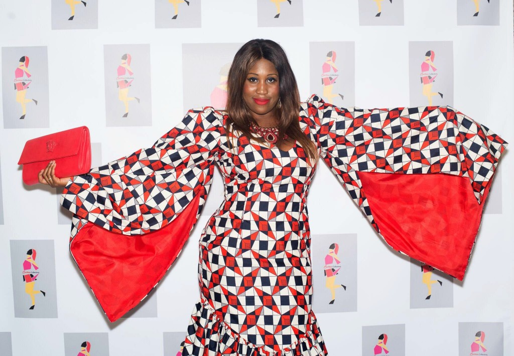 Nene Michelle Bundu of A4dable Events wears All Things Ankara Store Fabric to Bernan Fashion Show 2016 2