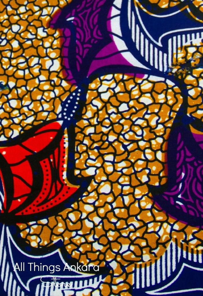 Purple Red Brown Wax Prints by Paksa