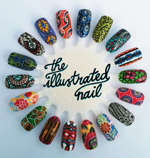 Ankara Print Nails by The Illustrated Nail 1