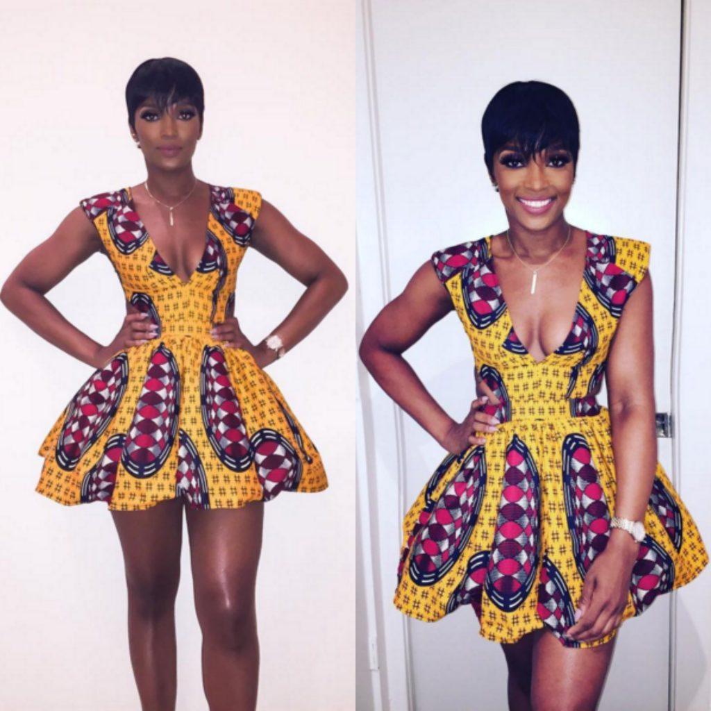 Fashion Show Ariane Davis In A Midget Giraffe Amaka Dress For Atlanta University Center African