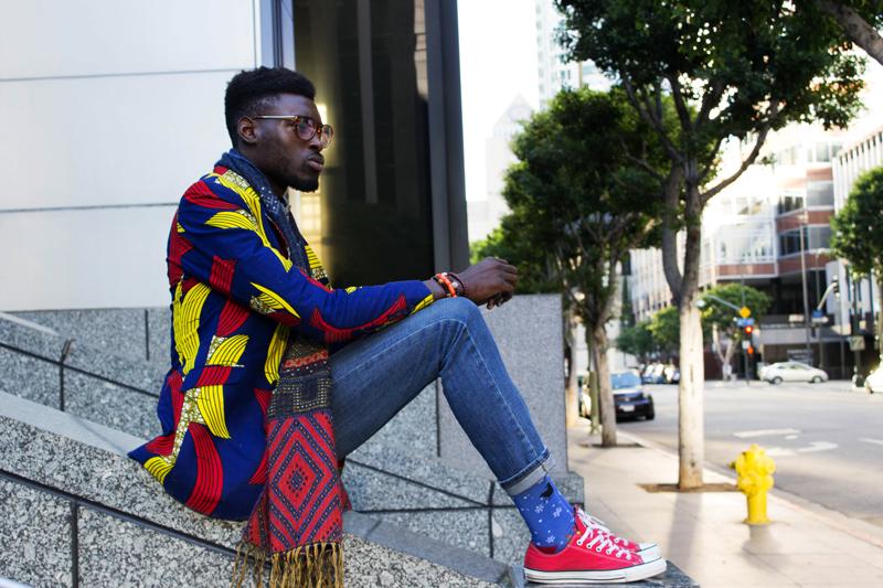 Jason Kusimo of Afrisager in Dollysam Color Me Badd Blazer 1
