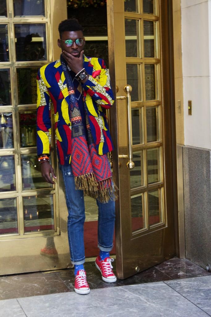 Jason Kusimo of Afrisager in Dollysam Color Me Badd Blazer 3